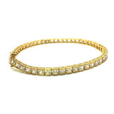 10K Yellow Gold Cube Bracelet 4.2MM WBG-002 - WORLDSTARBLING