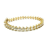 10K Yellow Gold Triangle Bracelet 5.7MM WBG-003 - WORLDSTARBLING