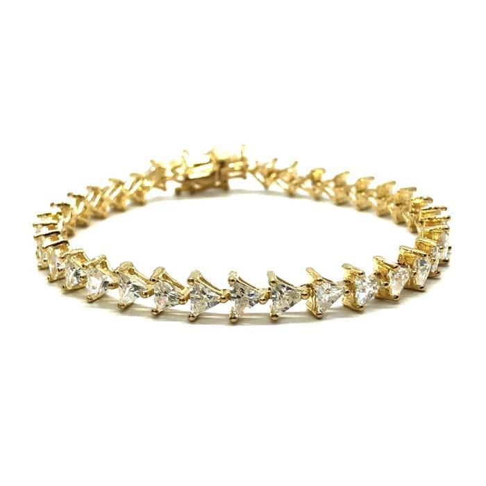 Bracelet Triangle en or jaune 10K 5.7MM WBG-003