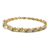 10K Yellow Gold Tennis Bracelet 4.8MM S WBG-007 - WORLDSTARBLING