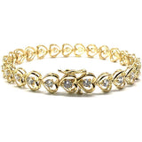 10K 7.7MM Yellow Gold Tennis Bracelet WBG-011 - WORLDSTARBLING