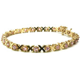 4.8MM Flat Yellow Rose Gold Tennis Bracelet X WBG-019 - WORLDSTARBLING