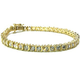 10K Yellow Gold 4.2MM Curvature Curve Tennis Bracelet WBG-021 - WORLDSTARBLING