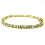 10K Yellow Gold 3.8MM Tennis Bracelet WBG-023 - WORLDSTARBLING
