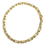 10K 4.2MM Yellow Gold Oval O Bracelet X WBG-028 - WORLDSTARBLING