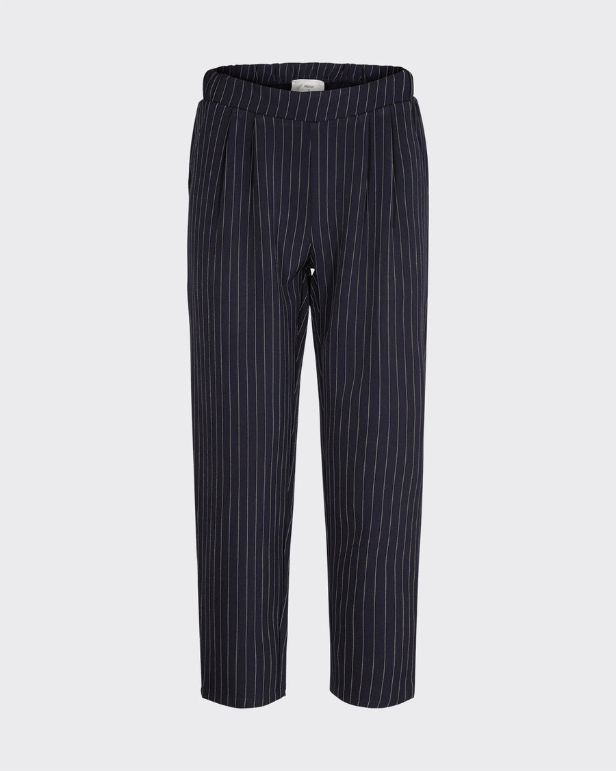 Minimum Sofja navy and white stripe trousers