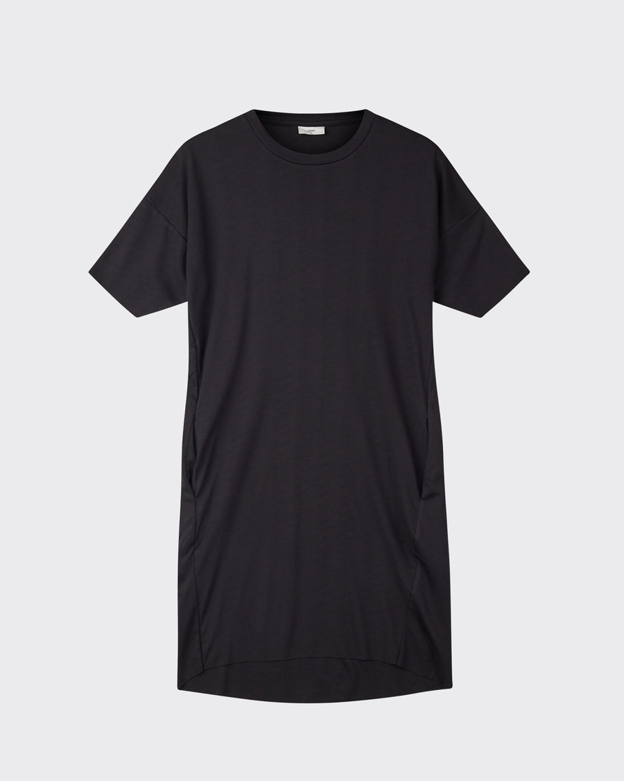Minimum regitza black cotton t-shirt dress