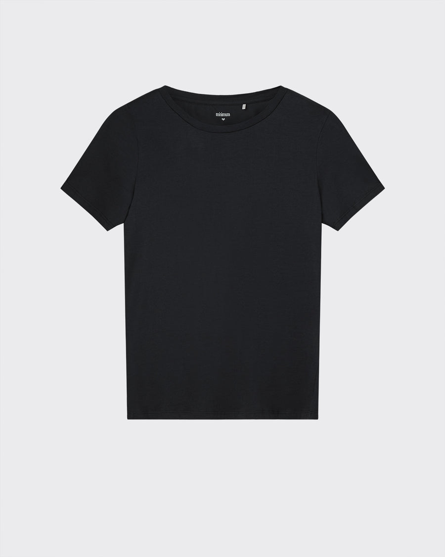 Minimum short sleeved 100% cotton black t-shirt