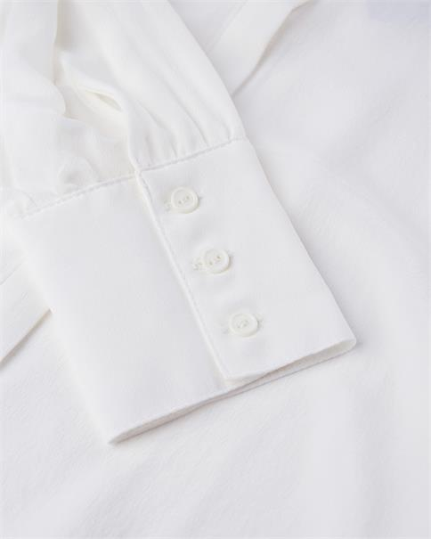 Minimum classic 100% white silk blouse