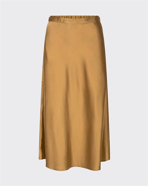 Minimum Bimbi gold satin A-line skirt
