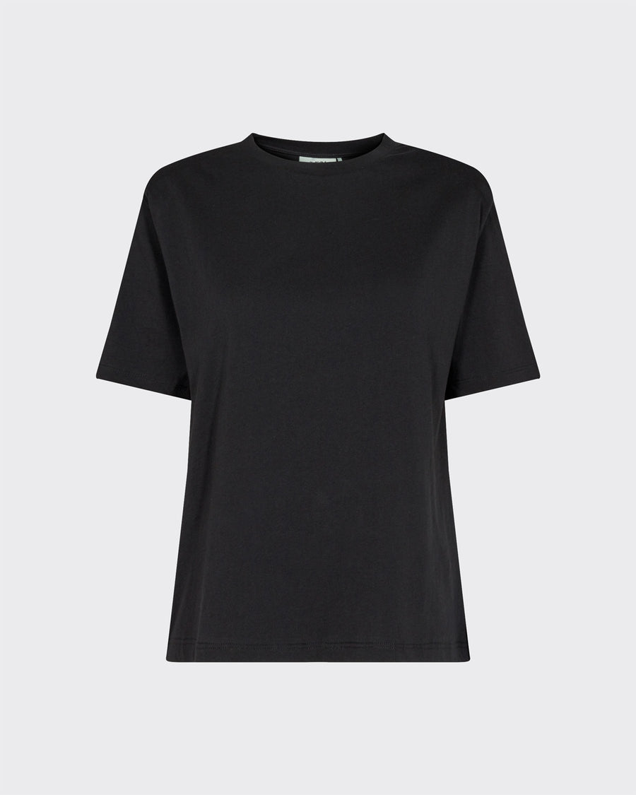 Moves Isma black t-shirt with shoulder pads