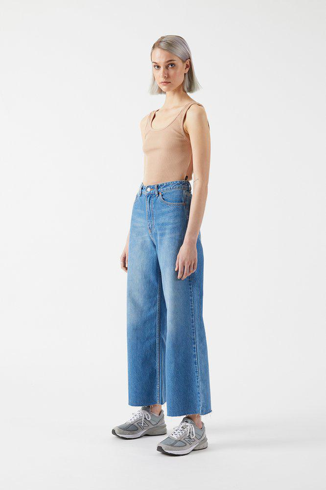 Dr Denim Aiko cropped flare jeans empress blue