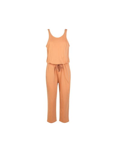 Mads Norgaard peach jersey jumpsuit in recycled cotton