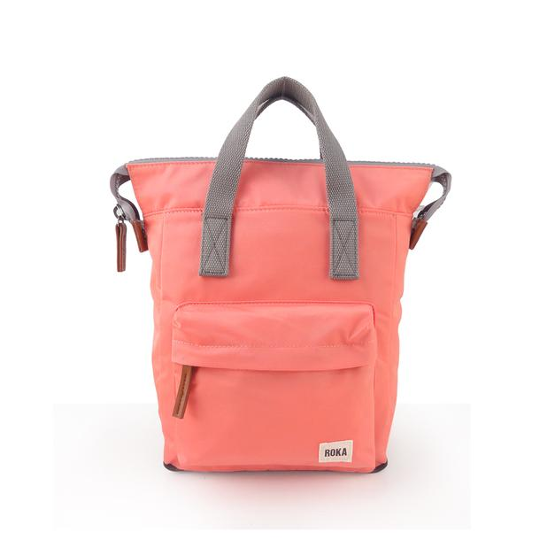 Roka London Bantry B small rucksack bag coral