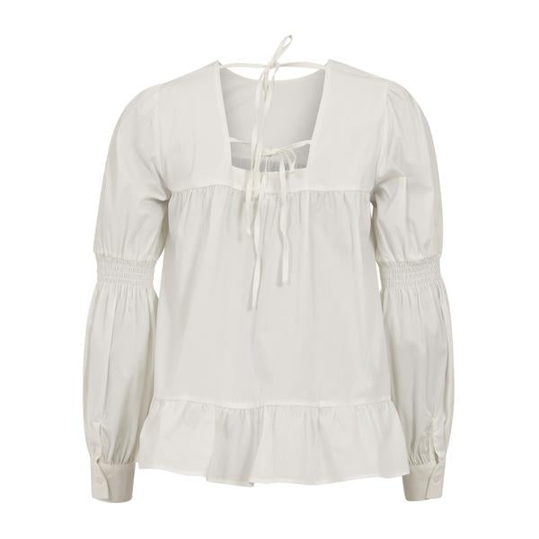 Coster Copenhagen white blouse with cuffs and volume