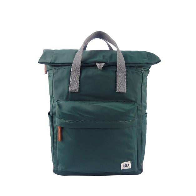 Roka London Canfield B medium pine green rucksack bag