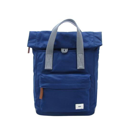 Roka London Canfield B small rucksack Ink blue
