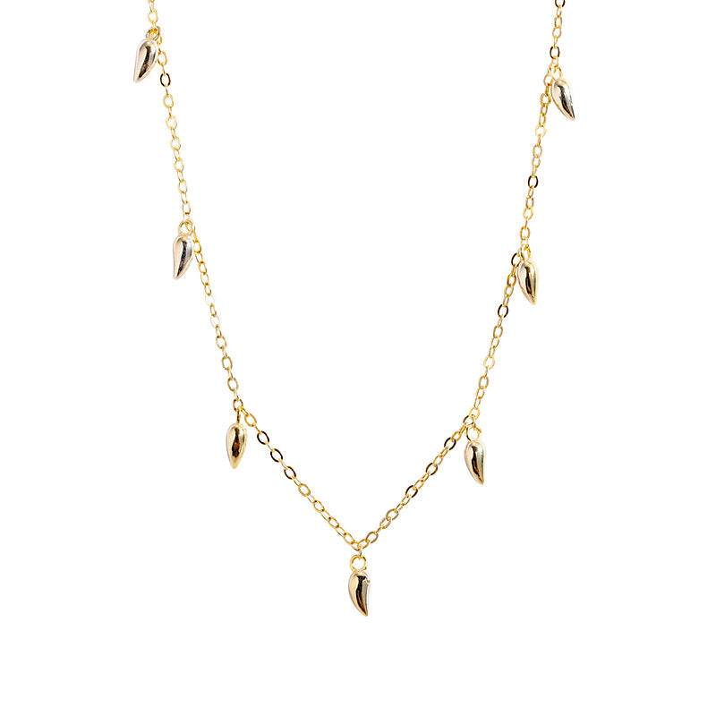 Gold plated tear drop necklace