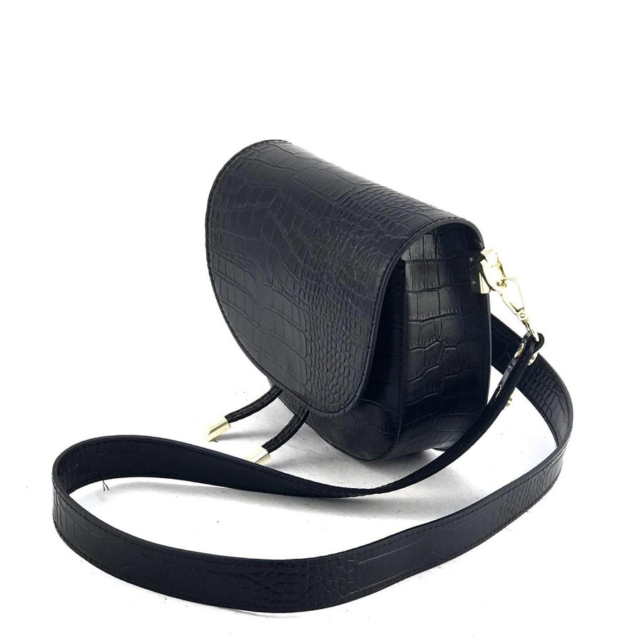Marlon cross over saddle bag in snakeskin leather