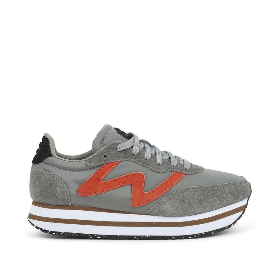 Woden Olivia Plateau III platform trainers in autumn grey