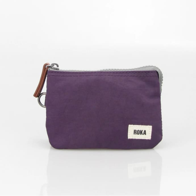 Roka London coin purse plum