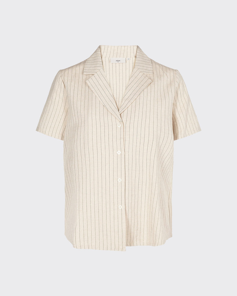 Minimum cream and natural striped blouse
