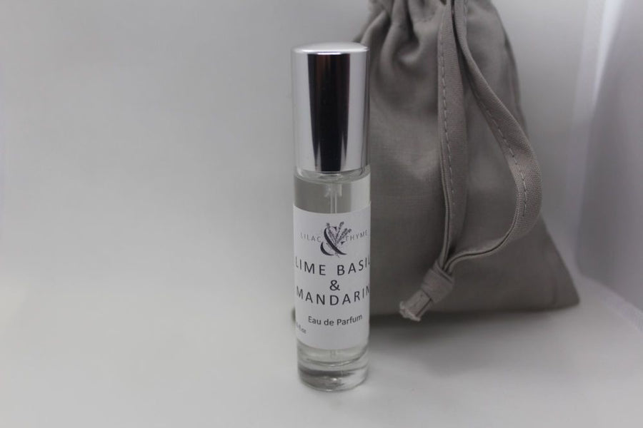 Lilac and Thyme Lime Basil and Mandarin fragrance perfume