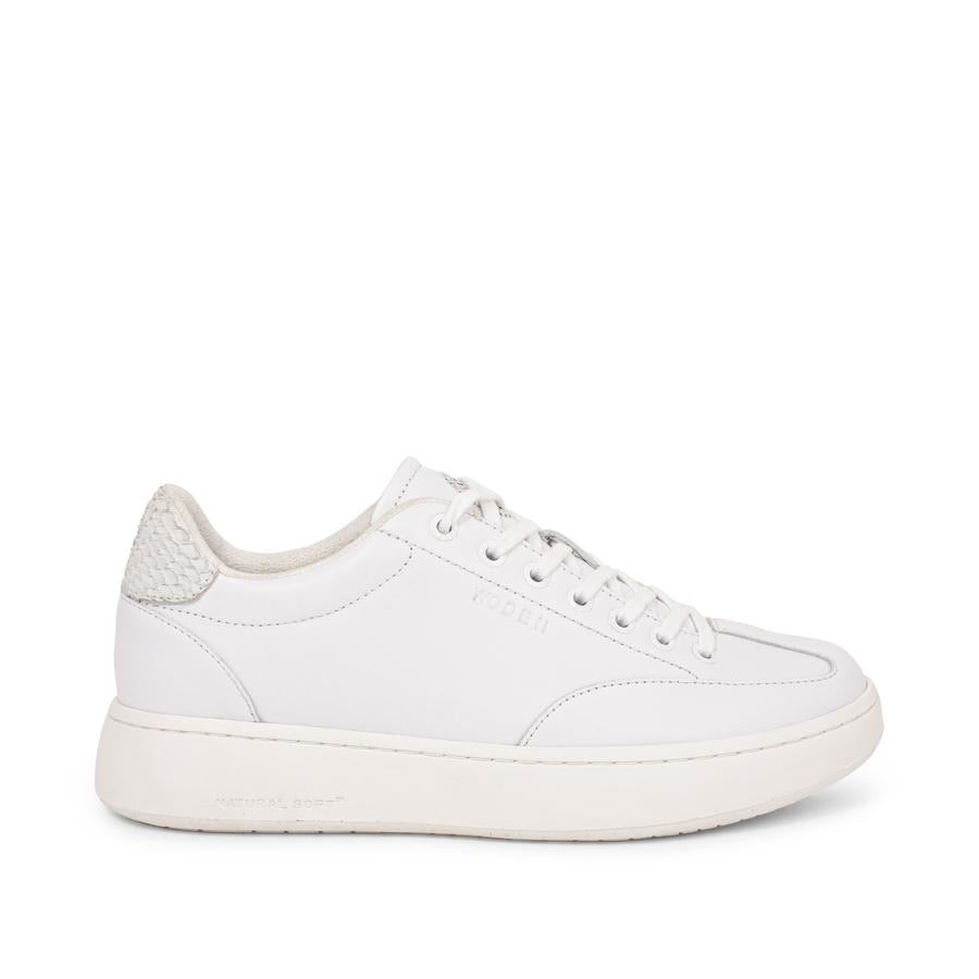 Woden Pernille leather bright white trainers sneakers