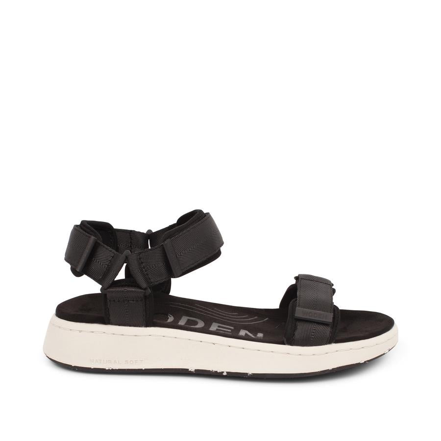 Woden Line tech sandals black and white