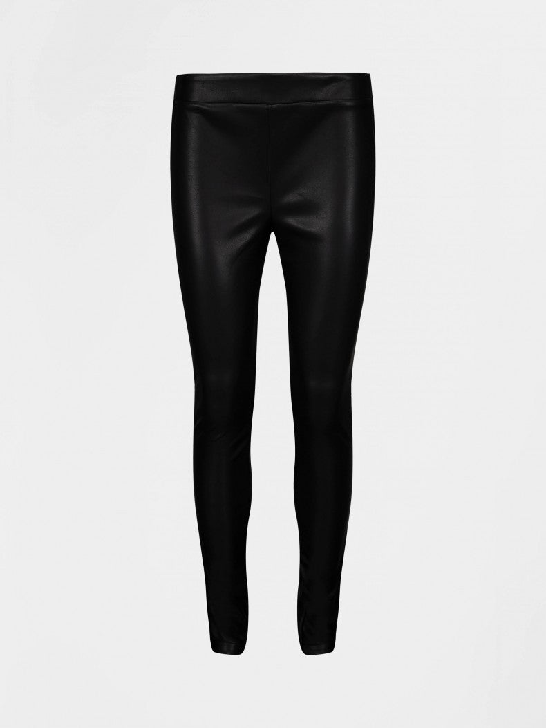 Sofie Schnoor Naia Faux leather trousers in black
