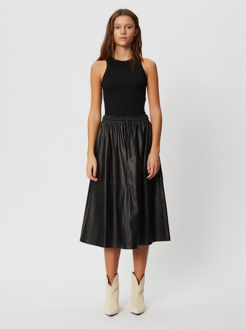 Sofie Schnoor Katelyn faux leather midi skirt