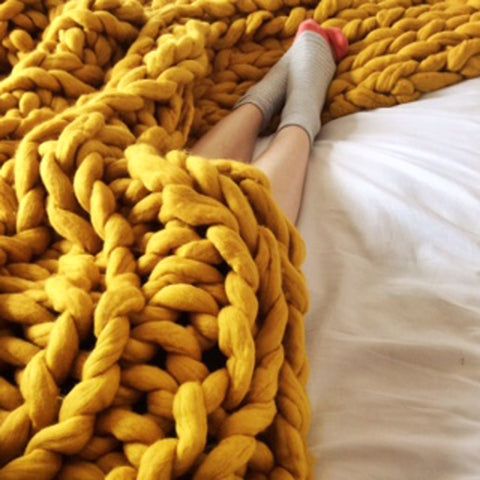 Yellow-Knit-Blanket