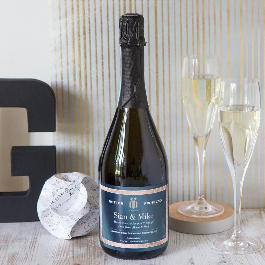 Dust & Things personalised prosecco house warming gift