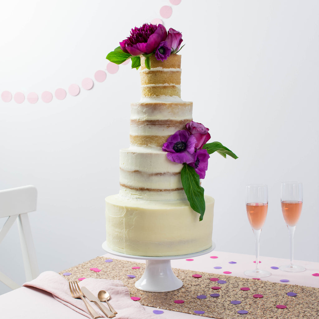 Naked ombre cake by Two Little Cats Bakery