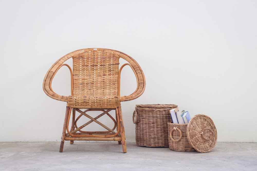 Your guide to modern boho interiors: the basket chair