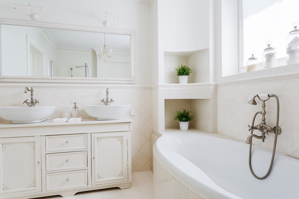 Create a beautifully bespoke bathroom, whatever your budget: vintage sink unit