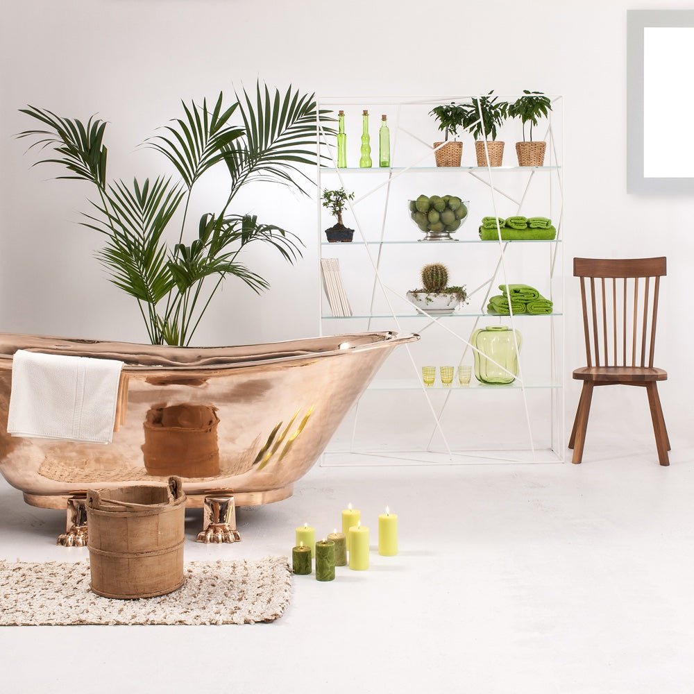 Create a beautifully bespoke bathroom, whatever your budget: copper bath