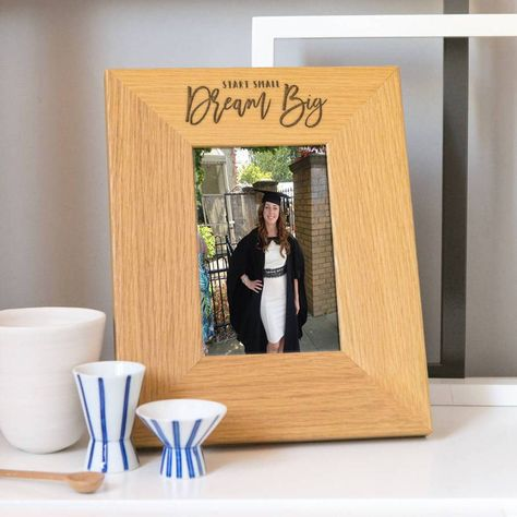 Start small, dream big graduation photo frame