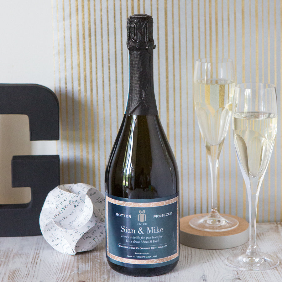 Personalised Prosecco Bottle | Bride And Groom Gifts |Personalised Gifts UK