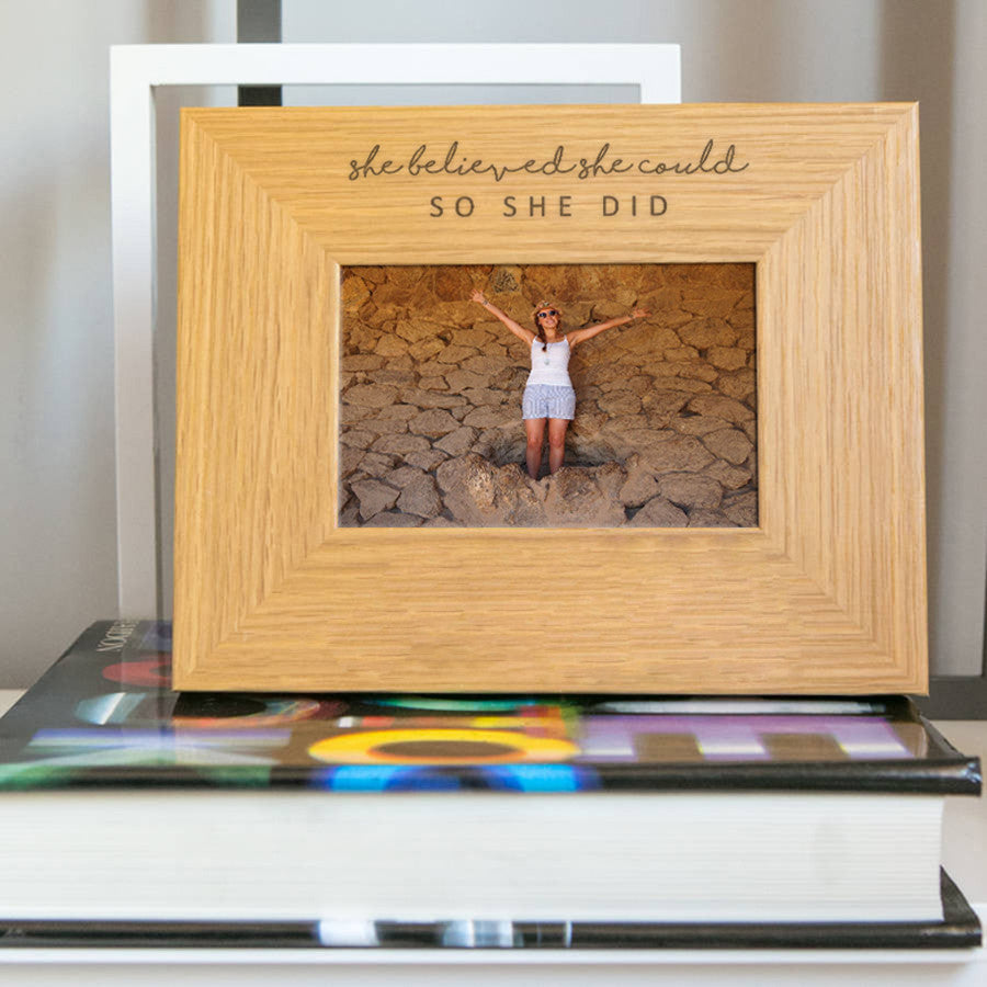 Engraved Picture Frames She Believed She Could So She Did