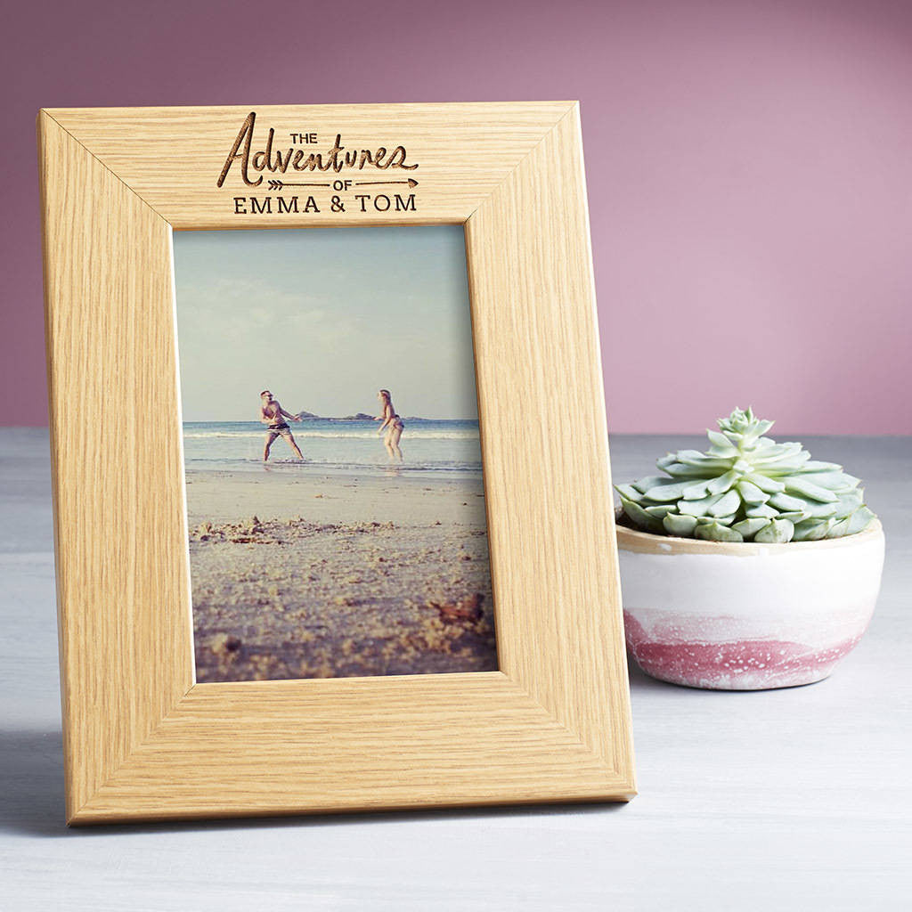 'The Adventures Of' Personalised Photo Frame