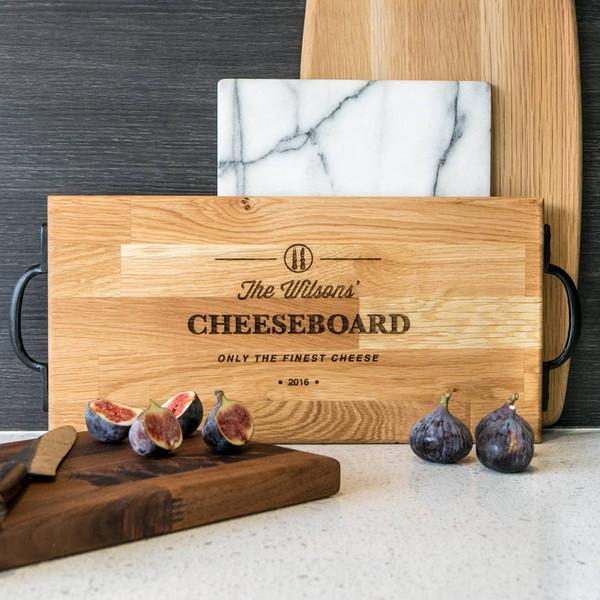 Personalised Large Oak Or Walnut Family Cheese Board