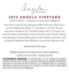 """Angela Vineyard"" Pinot Noir Special"