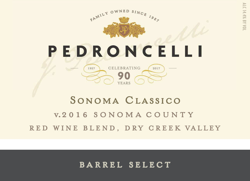 Sonoma Classico Red Wine Blend 2016