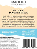 Willamette Valley Pinot Noir 2018 label