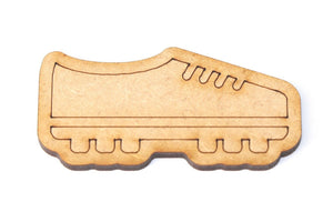 Wooden MDF Sport Football Boot Shape Bunting Craft Embellishments Decorations