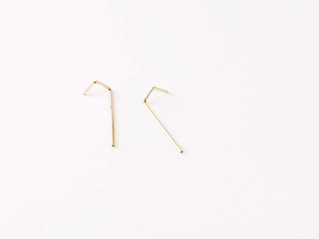Reversible Threader Earrings Architectural Industrial Minimalist Threaders minimal hypoallergenic