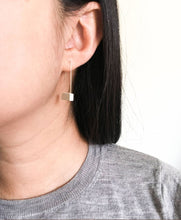 Load image into Gallery viewer, CONCRETE BLOCK DANGLE EARRINGS - RAW
