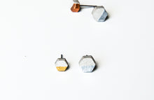 Load image into Gallery viewer, RAW CONCRETE HEXAGON EARRINGS