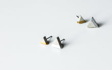 Load image into Gallery viewer, Triangle Concrete Earrings Minimalist Geometric Studs Hypoallergenic